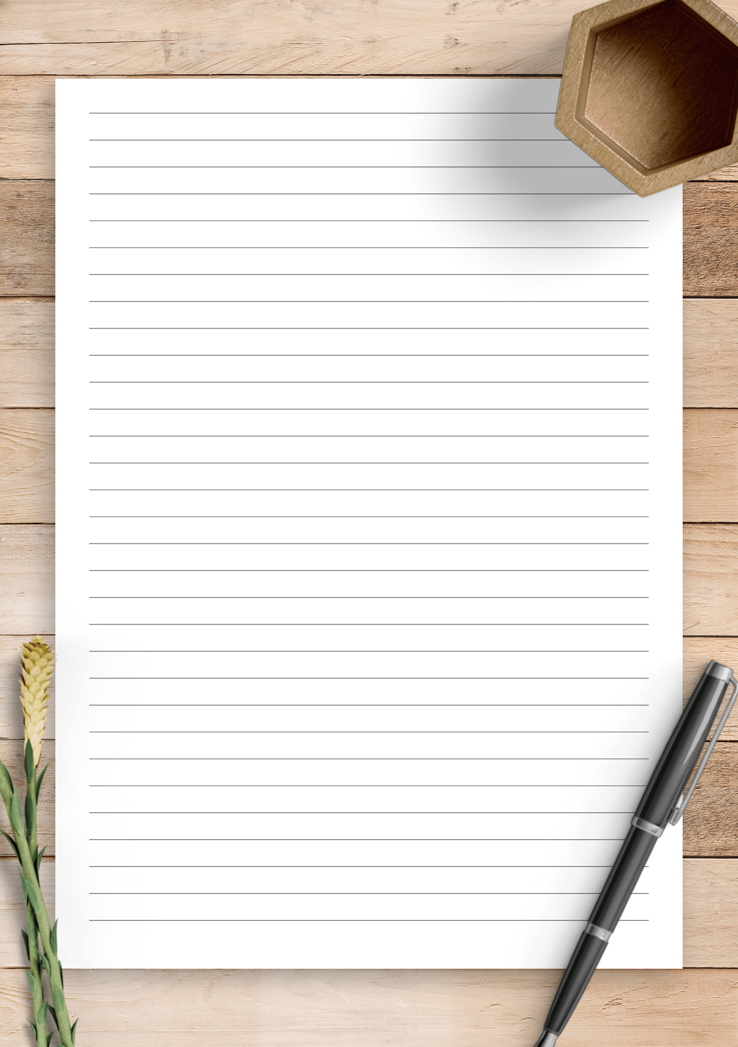 Download Printable Lined Paper Template
