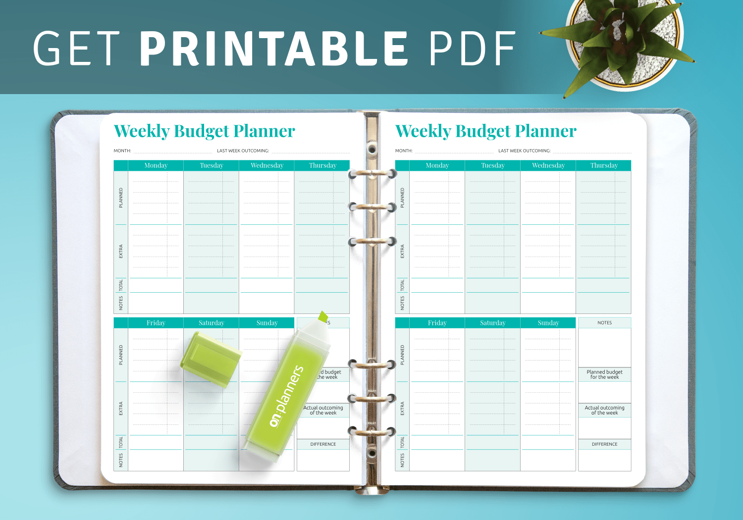 Download Printable Simple Weekly Budget Template