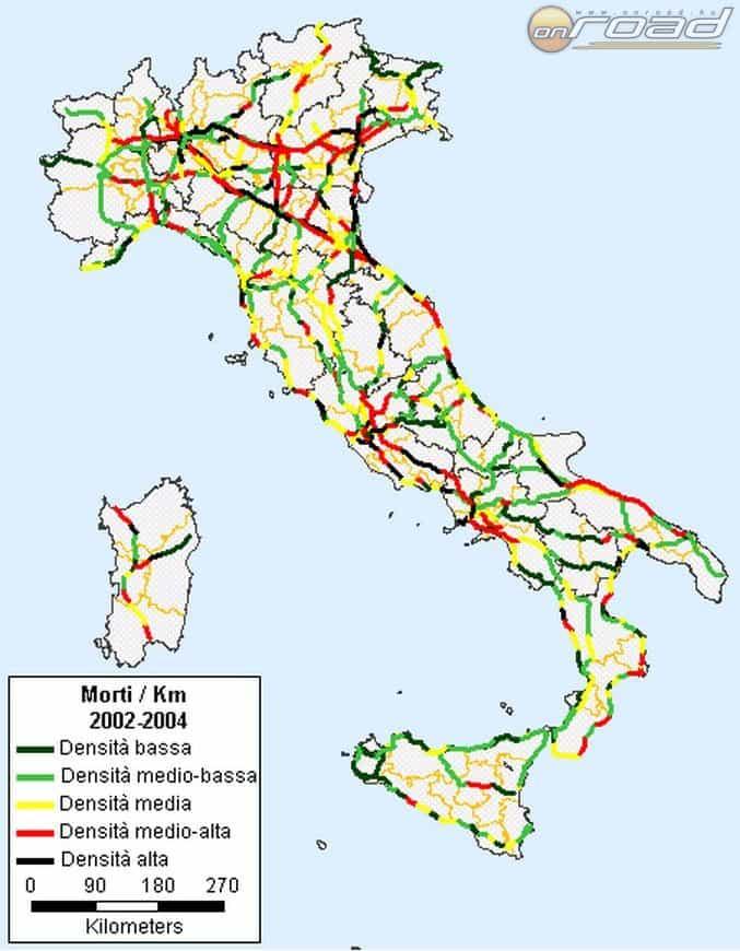 Olaszországban érdemes megfigyelni, ahogy Dél felé haladva egyre csökken a kockázat - pedig sokan éppen az ellenkezőjét gondolják