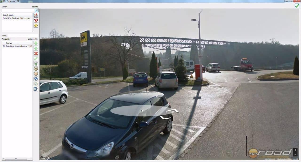 Bármikor egy mozdulattal igénybe vehetjük a Google Streetview anyagát, ami nagy segítség tervezéskor