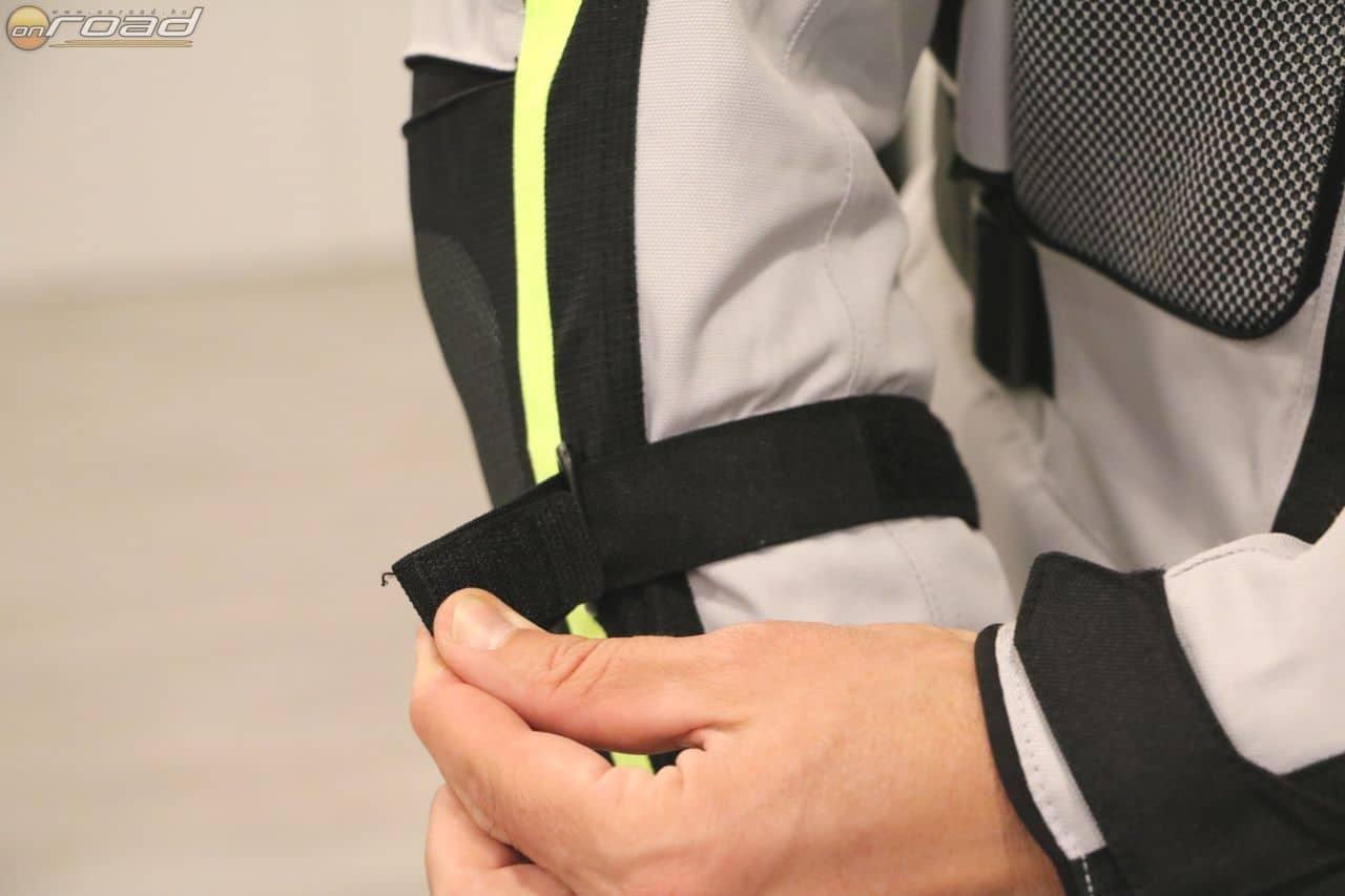 A bélések számától függően állítható a karok bősége - így lesznek stabilak a protektorok