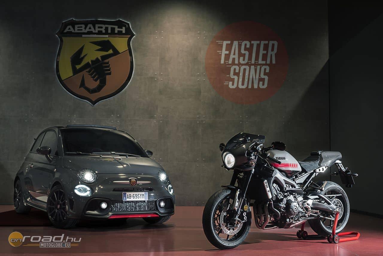 Az Abarth és a Yamaha első közös munkája. Reméljük, nem az utolsó