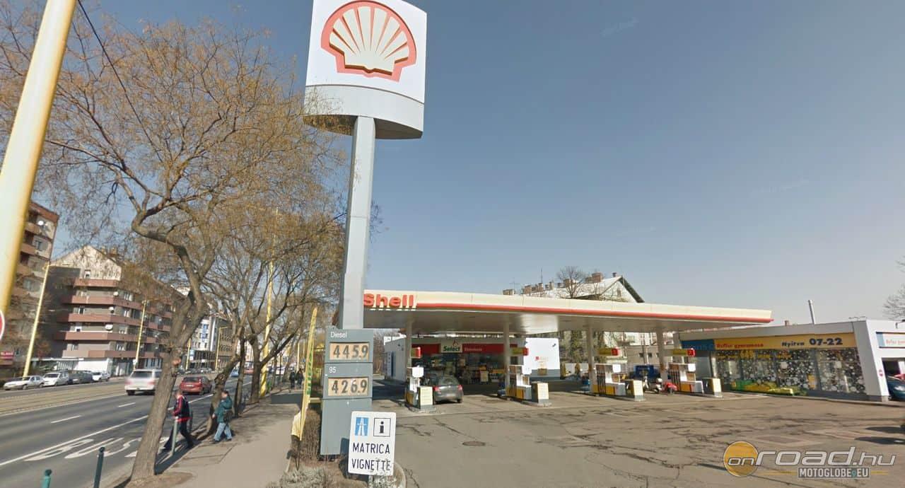 A találkozó helye az Alkotás utcai Shell kút, a Déli Pályaudvar közelében