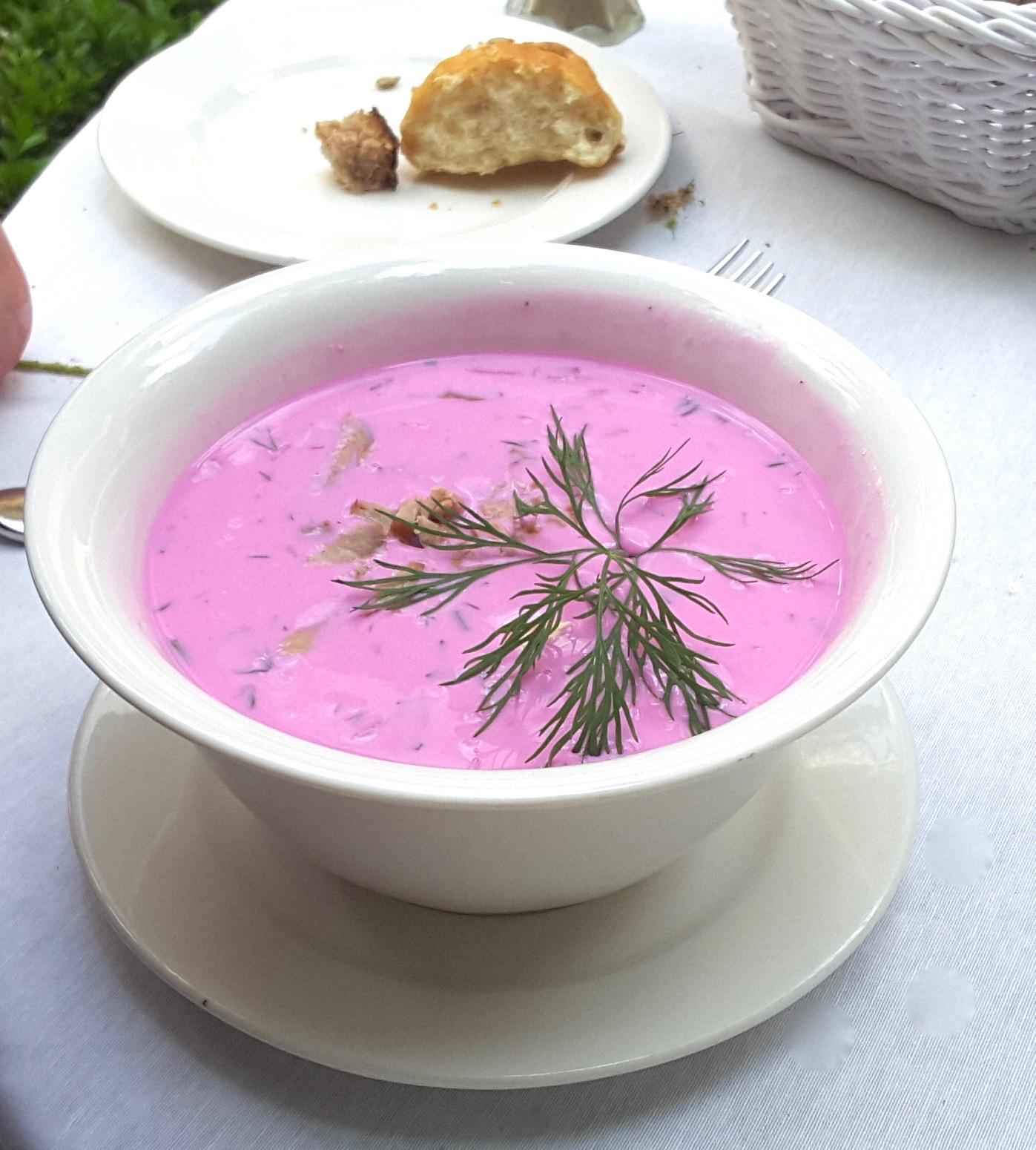 Beet and yogurt soup