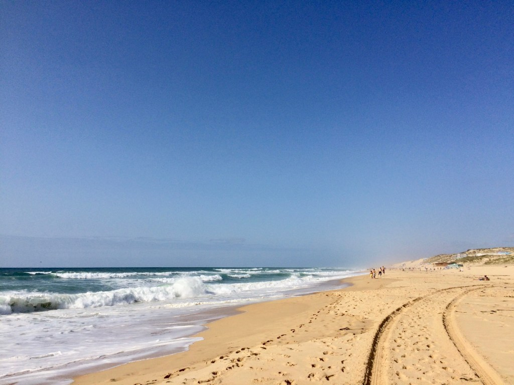 sun on beach