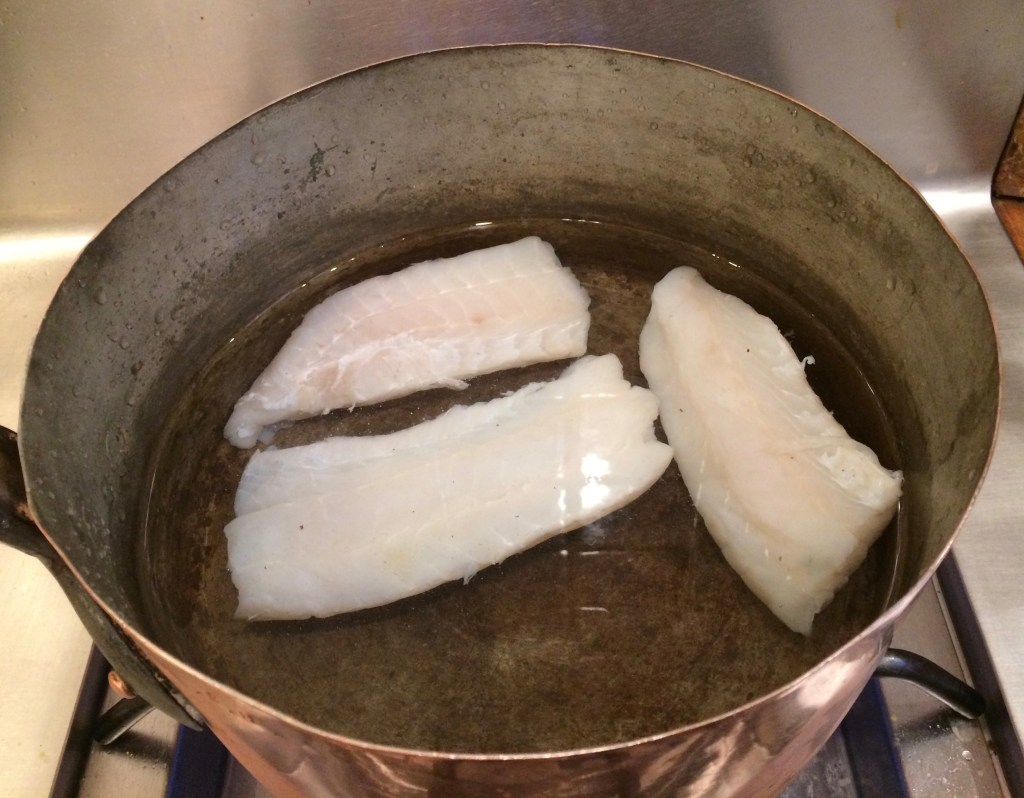 salt cod in water