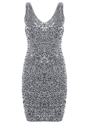 Sequin Glitter Bodycon Mini Party Dress, $26.99