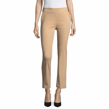 Liz Claiborne Slim Fit Ruffle Pocket Ankle Pants, $14.40