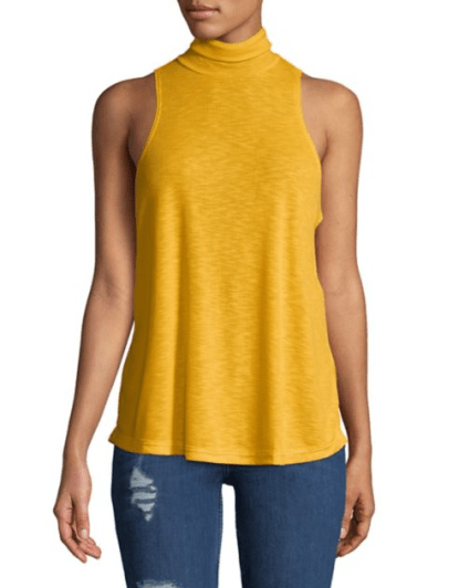Topanga Sleeveless Turtleneck Top, $20