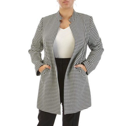 Houndstooth Open Front Pantsuit, $69.99