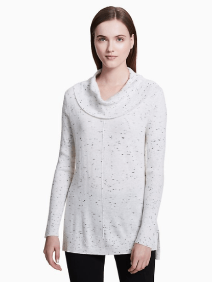 Flecked Cowl Neck Sweater, $29.99