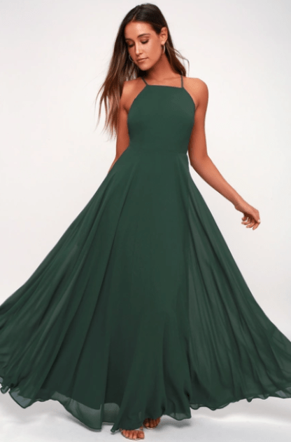 Mythical Kind of Love Dark Green Maxi Dress, $66