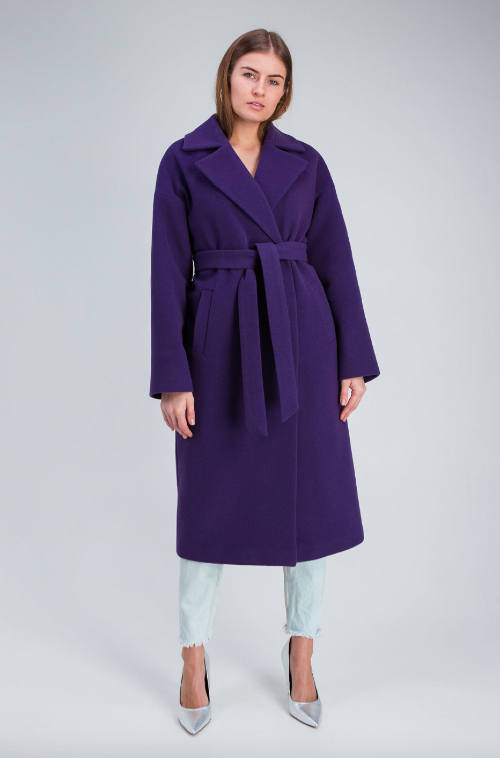 oversized purple coat as inauguration 2021 dupe