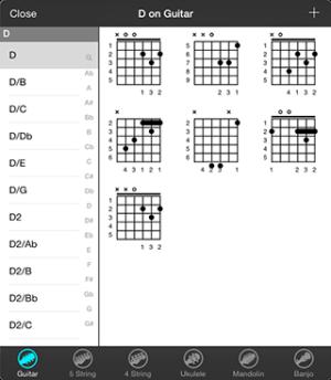 OnSong | Manual | Chord Diagram Library