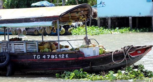 le marché flottant du Mékong