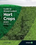 The front cover of OMAFRA Publication 75B Guide to Weed Control Hort Crops 2020