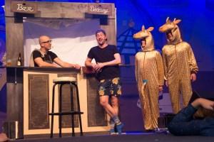 Menno van Hoek en Toon Meulendijks, de grote amigo show