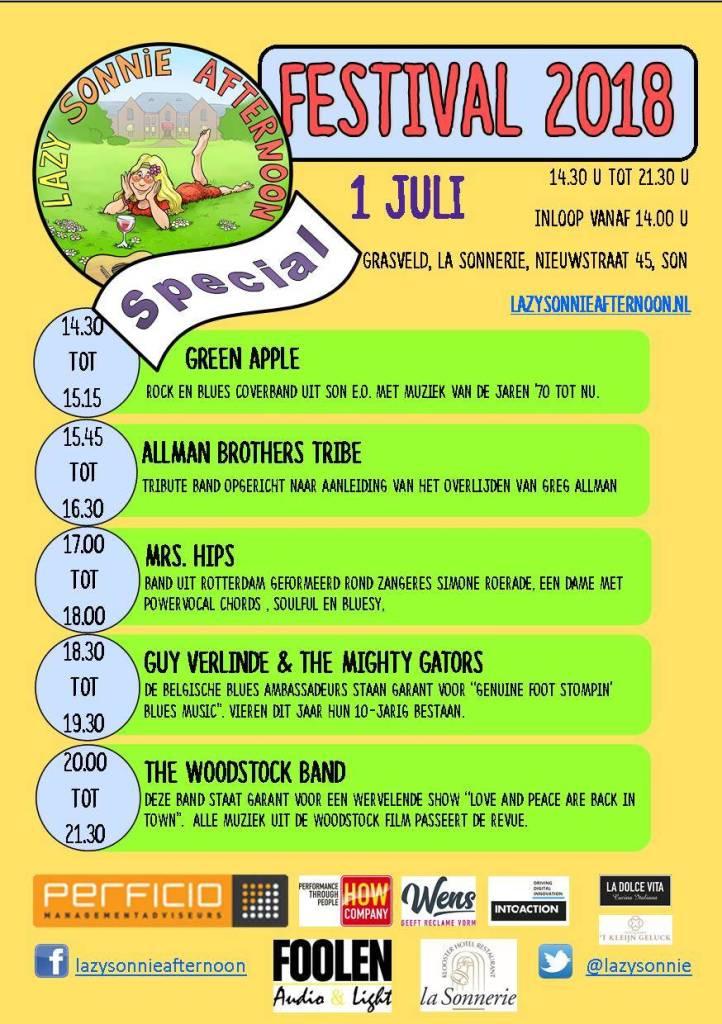 Lazy Sonnie Afternoon Festival programma