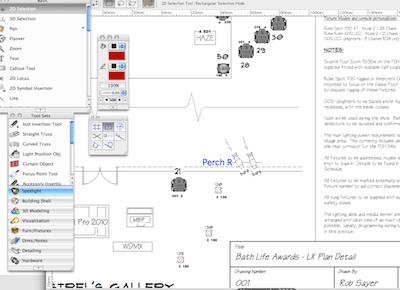 stage lighting design software cad