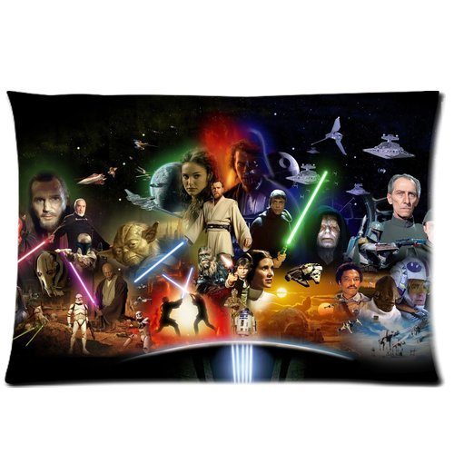 caitin cool star wars poster design custom zippered square pillow case pillowcases cover size 20 x 30 two sides on star wars