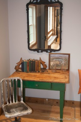 Desk and chair in Mens Dressing Suit