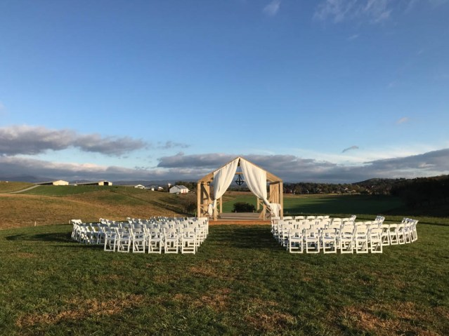 The ceremony site is set