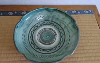 8寸 梅鉢 うす青
