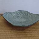 9寸角皿 うす青
