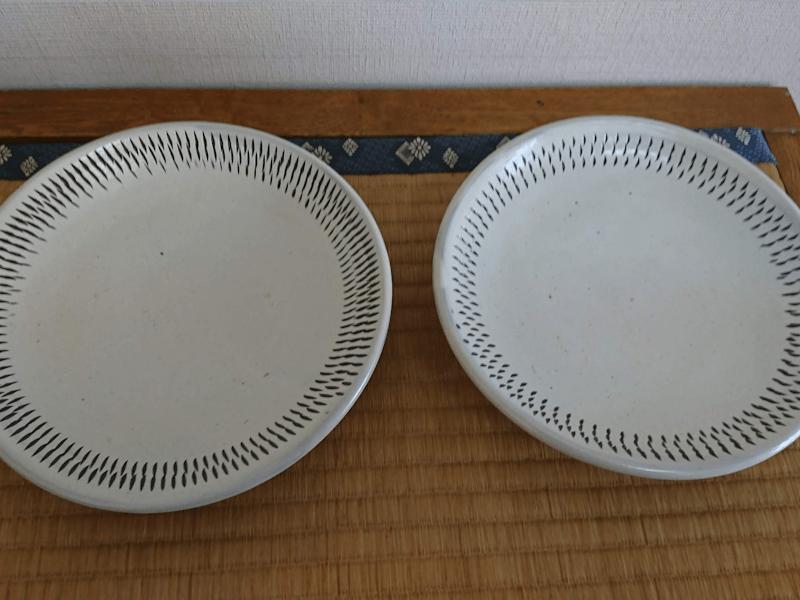 7寸カレー皿 白 トビ鉋