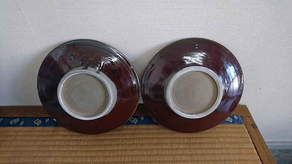 小鹿田焼 8寸皿 白 刷毛目 坂本浩二窯