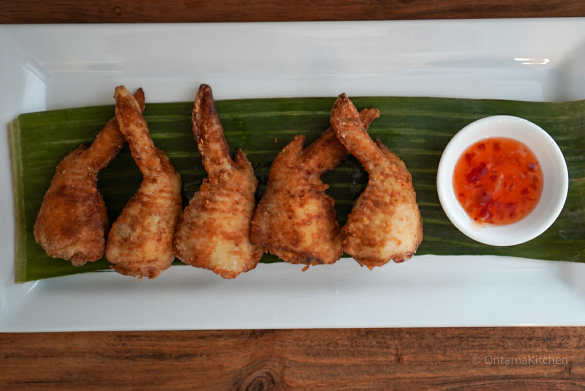 Chicken wing gyoza