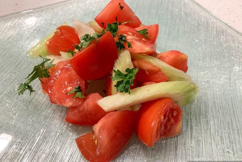 トマトとセロリのサラダ (Tomato and Celery Salad)