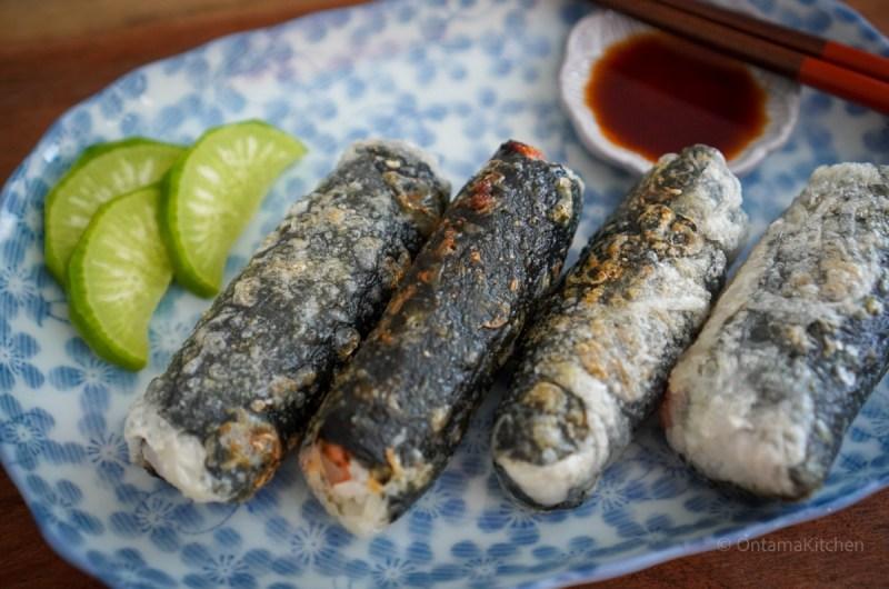 ライスペーパー海苔巻き (Rice Paper  and Seaweed Spring Rolls)