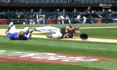 Jose Abreu Hunter Dozier Collision
