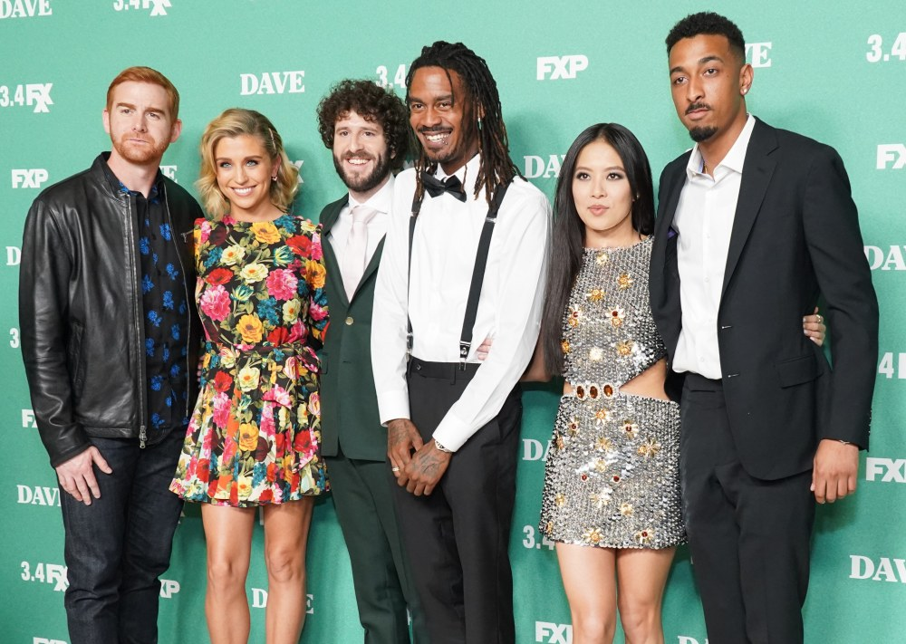 The principal cast of Dave at the Director's Guild of America. Photo: Rachel Luna/Getty Images