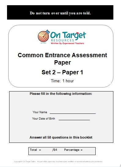 AQE Practice papers Set 2