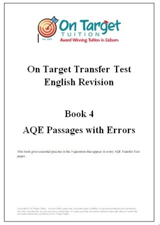 AQE and GL English Revision Books