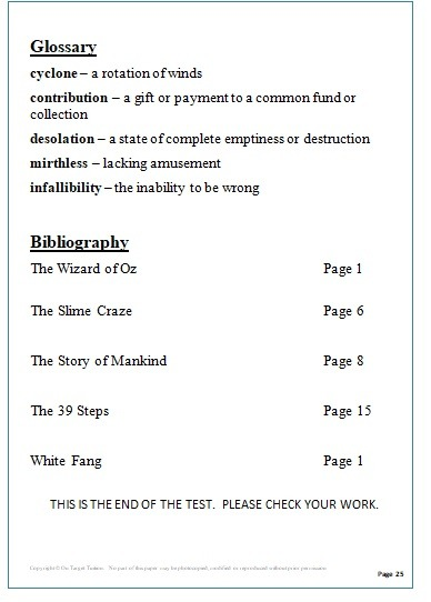 GL English Practice Papers Set 2