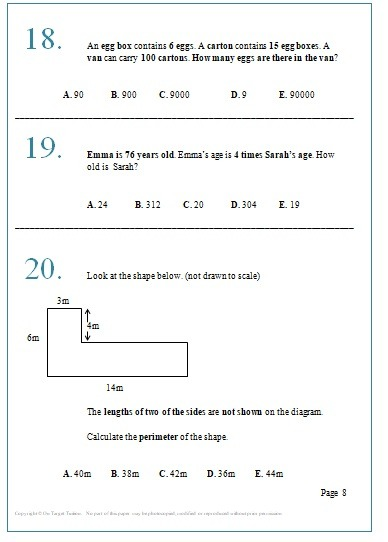 GL Maths and English Practice papers Set 2