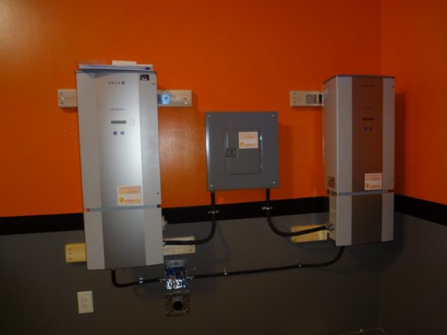 2 x 5kW string inverters by Kaco