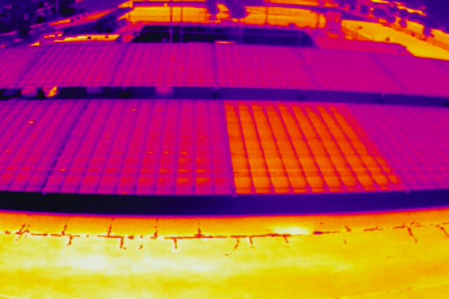 Solar Array Thermal Image
