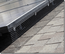 critter guard for solar panels