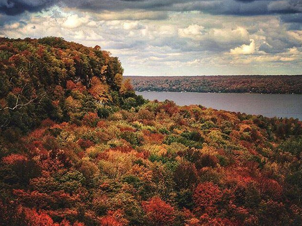 Fall Colours on Skinners Bluff Trail