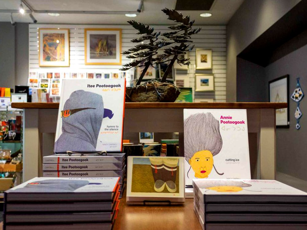 Art books and gifts in the McMichael gift shop.