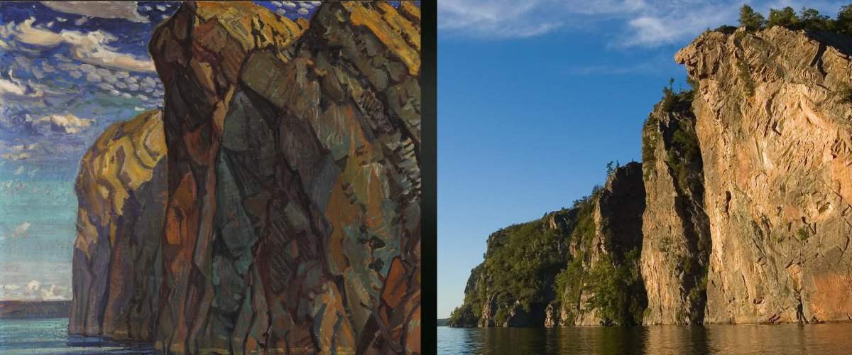 painting and photo of Bon Echo