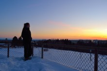 Peterborough sunset from Armour Hill.