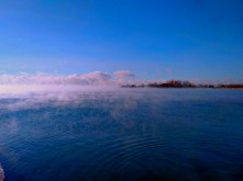 Mist over the Ashbridges bay.