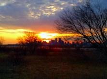 Sunset over Toronto.