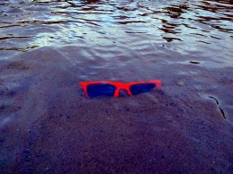 Finally a pair of right orange sunglasses were just sitting in the shallows.