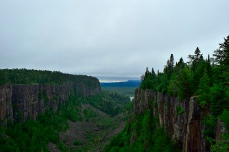 The views out towards Lake Superior.